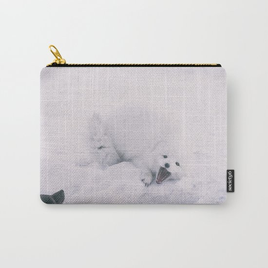 ARCTIC FOXES PLAYING Carry-All Pouch