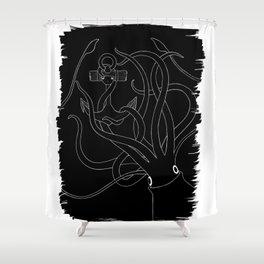 Giant Squid & Anchor Shower Curtain