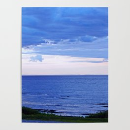 Blue on Blue at the River Mouth Poster