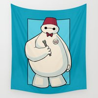 doctor Wall Tapestries featuring Doctor B by Karen Hallion Illustrations