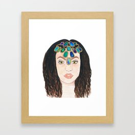 Jewelled Princess Framed Art Print