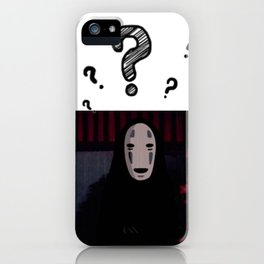 Kaonashi anime aesthetic iPhone Case
