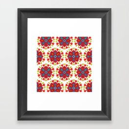 FLOR XL white Framed Art Print