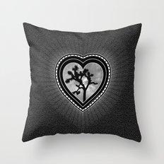 Joshua Tree Heart of the Hi-Desert by CREYES Throw Pillow