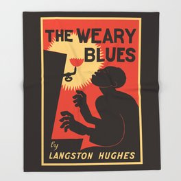 Retro The Weary Blues (music) Throw Blanket