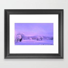 winter wonderland. Framed Art Print
