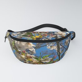 White Flowers in Shangdong, China Fanny Pack