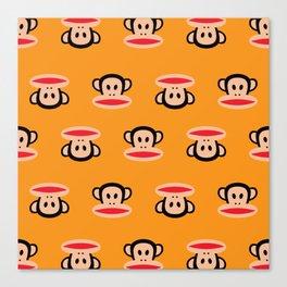 Julius Monkey Pattern by Paul Frank - Orange Canvas Print