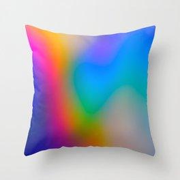 Holo rainbow 5 Throw Pillow