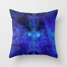 Tibet. Blue Meditation Throw Pillow