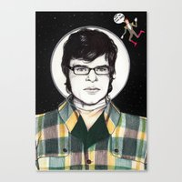 flight of the conchords Canvas Prints featuring Flight of the Conchords: JEMAINE CLEMENT IN SPACE! by Dianah B