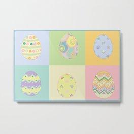 Pastel Easter Eggs I Metal Print