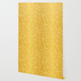 Mosaic Triangles Repeat Seamless Pattern gold Wallpaper