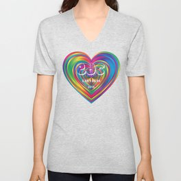 Electric Daisy Carnival Heart Unisex V-Neck