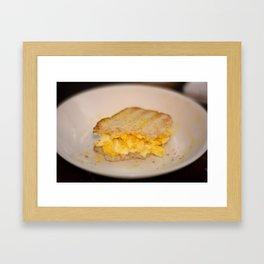 Egg salad with Oatmeal Toast Framed Art Print