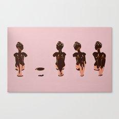 Four Chocolate Ladies Canvas Print