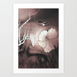 Hibiscus meets Pandanus (St. Damien 14) Art Print