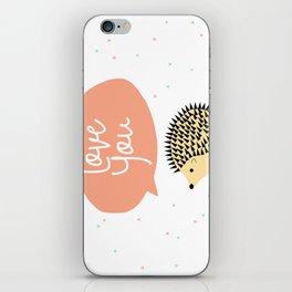 Hedgegog love iPhone Skin