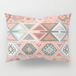 Aztec Artisan Tribal in Pink Pillow Sham