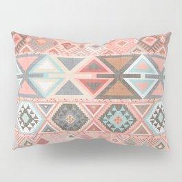 Aztec Artisan Tribal in Pink Pillow Sham