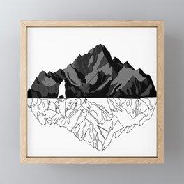 Mountains Bear Framed Mini Art Print