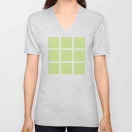 Green with Blue Lines Unisex V-Neck