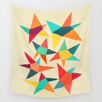dancing Wall Tapestries featuring Dancing Stars by Picomodi