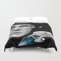low poly Duvet Covers featuring LLAP- Low Poly by John Harman