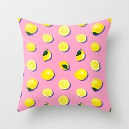 Pink Lemon ~ 80's Pattern Throw Pillow