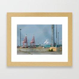 Pole #5 - Saint John Port Framed Art Print