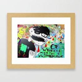 Die wütende Aue. Framed Art Print