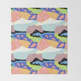 Abstract Postmodern Landscape Throw Blanket