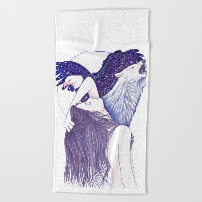 Wings Of An Eagle Beach Towel