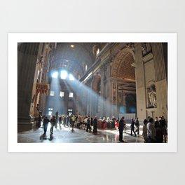 Holy Light Art Print