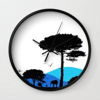 safari Wall Clocks featuring Safari by yakitoko