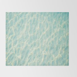 Transparent Clear Water Pattern With Sand Underneath Light Shimmering On Water Throw Blanket