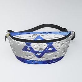 Flag of Israel - Raindrops Fanny Pack