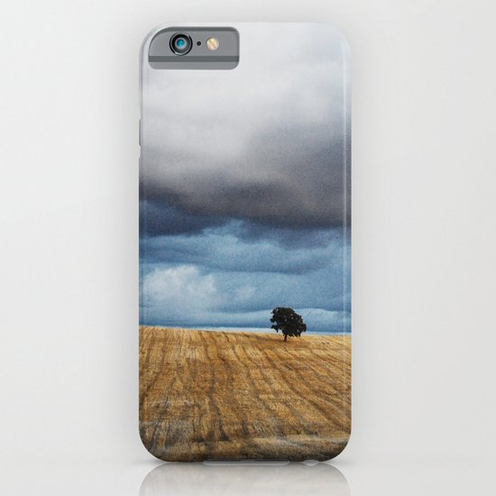 Lonely tree waiting for the storm iPhone & iPod Case