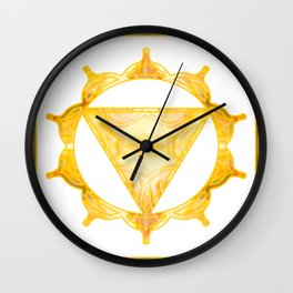 You Are My Sunshine Abstract Chakra Art  Wall Clock