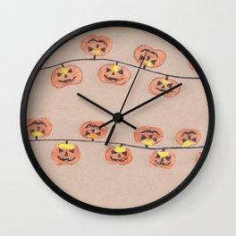 pumpkin lights Wall Clock