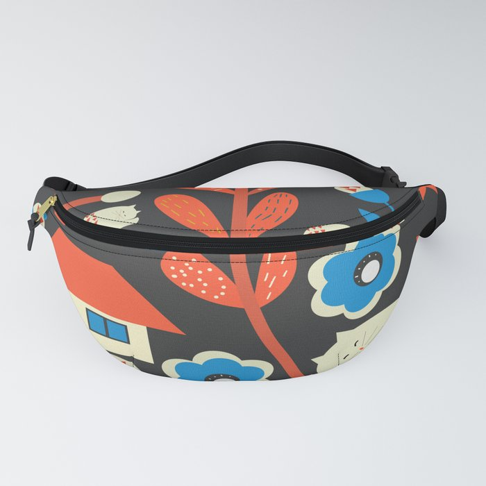 Woodland kitty home Fanny Pack