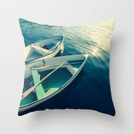 On the Water - Boats Throw Pillow