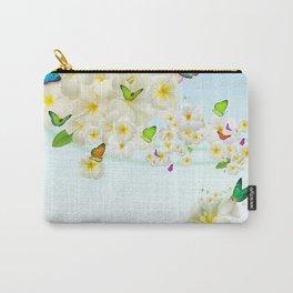 Plumeria Butterflies Carry-All Pouch