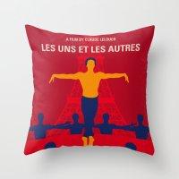 No771 My Les Uns et les Autres minimal movie poster Throw Pillow
