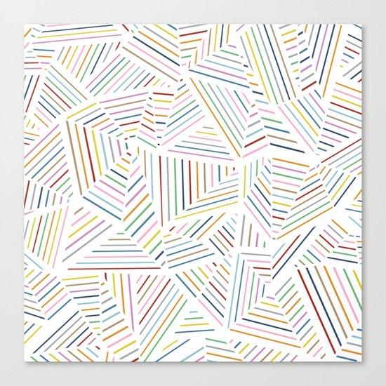 Ab Linear Rainbowz Canvas Print