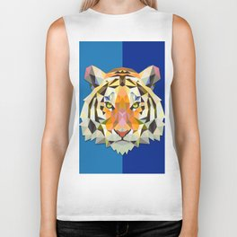 Graphic Tiger Biker Tank
