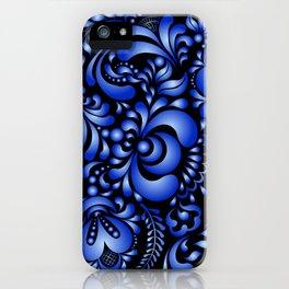 Gzhel black pattern iPhone Case
