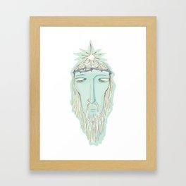 head of Jesus Framed Art Print