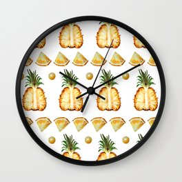 Pineapple dance Wall Clock