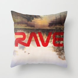 RAVE Throw Pillow